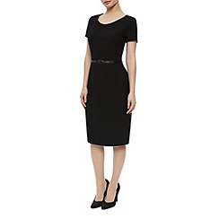 Precis Petite - Textured Ponte Black Dress