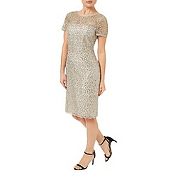 Precis - Oyster Sequin Lace Dress