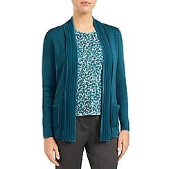 Eastex - Shawl collar pointelle cardigan