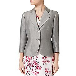 Precis Petite - Grey Flat Crinkle Jacket