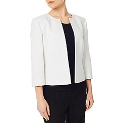 Precis - Ivory Textured Jacket