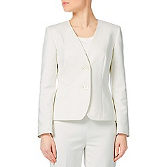 Precis - Ivory Cotton Stretch Jacket