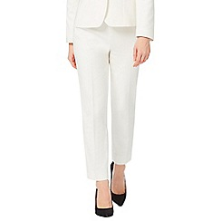 Precis - Ivory Cotton Stretch Trouser