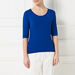 Precis - Jeff Banks Blue Jersey Top