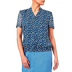 Eastex - Spot Shirred Hem Blouse