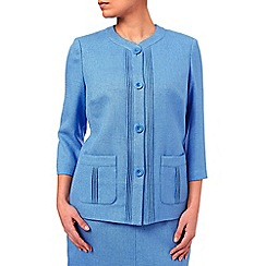 Eastex - Basket Weave Round Neck Jacket