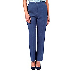 Eastex - Basket Weave Straight Trouser