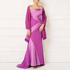 Jacques Vert - Lorcan Satin Crepe Bow Gown