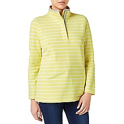 Dash - Stripe Peached Funnel Neck Top