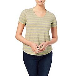 Dash - Grey And Yellow Stripe Top