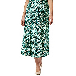 Eastex - Painterly Leaf Jersey Skirt