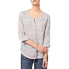 Dash - Stone Linen Stripe Blouse