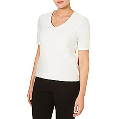 Windsmoor - Ivory Jersey Textured Top