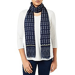 Dash - Border Navy Print Scarf