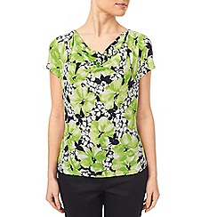 Precis - Lime Printed Floral Jersey Top