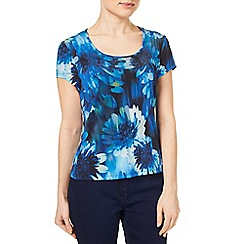 Precis - Blurred Floral Jersey Top