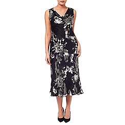 Windsmoor - Floral Burnout Cowl Neck Dress