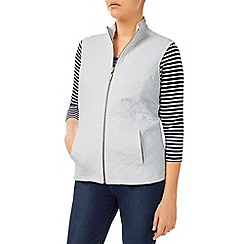 Dash - White Ribside Interlock Gilet