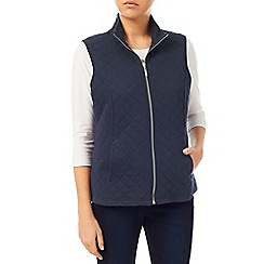 Dash - Navy Ribside Interlock Gilet