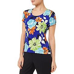 Precis - Multi Floral Cowl Top