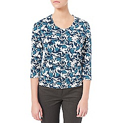 Eastex - Painted Petal Print Top