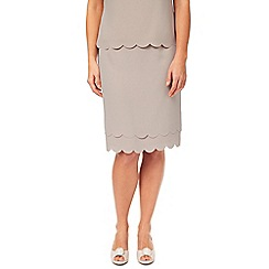 Jacques Vert - Petite Scallop Edge Skirt