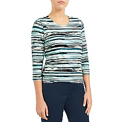 Eastex - Ocean painterly stripe top