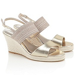 Jacques Vert - Canvas And Metallic Strap Shoe