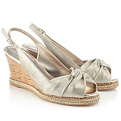 Jacques Vert - Metallic Knot Open Toe Shoe