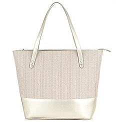 Jacques Vert - Canvas And Metallic Tote