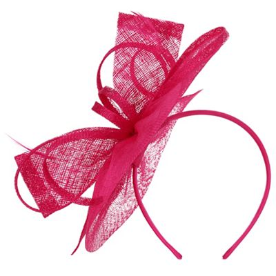 Precis Pink Bow Disc Fascinator