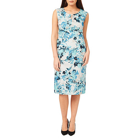 Windsmoor - Printed Aqua Dress
