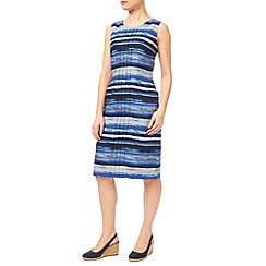 Precis - Waterstripe Linen Shift Dress