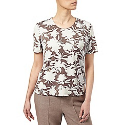 Eastex - Monotone Printed Jersey Top