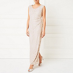 Jacques Vert - Embellished Lace Maxi Gown