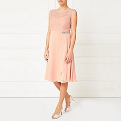Jacques Vert - Lace Overlayer Drape Dress