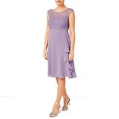 Jacques Vert - Lace Overlayer Drape Dress