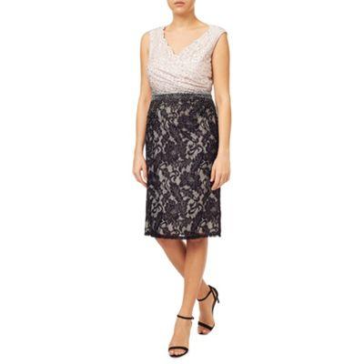 Jacques Vert Col Block Embellished Dress