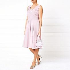 Jacques Vert - Pleat Detail Lace Insert Dress