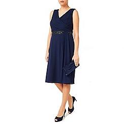 Jacques Vert - Side Pleat Embellished Dress