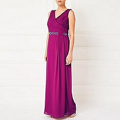 Jacques Vert - Side Pleat Embellished Gown