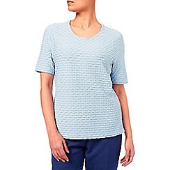 Eastex - Scoop Neck Texture Jersey Top