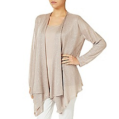 Jacques Vert - Metallic Knit Drape Coverup