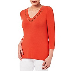 Windsmoor - Clementine Cutwork Jersey Top