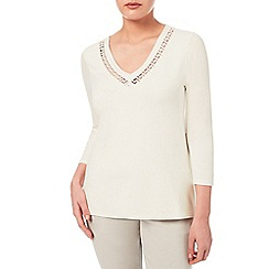 Windsmoor - Ivory Cutwork Jersey Top