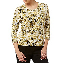 Eastex - Mini Ochre Floral Printed Top