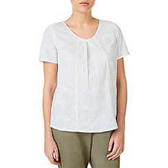 Dash - Embroidered V Neck Shell Top