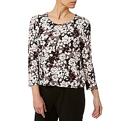 Eastex - Monotone Blossom Printed Top