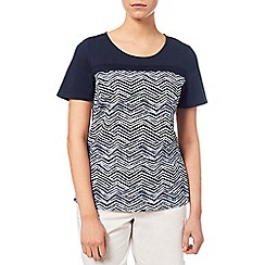 Dash - Printed Woven Mix Jersey Top