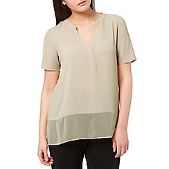 Windsmoor - Truffle Textured Sheer Mix Top